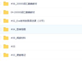 刘彬20000词汇巅峰速记营(200课)
