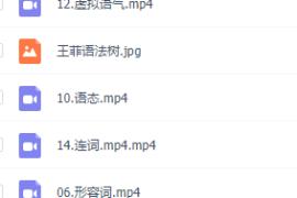 2019版王菲语法班(完结)